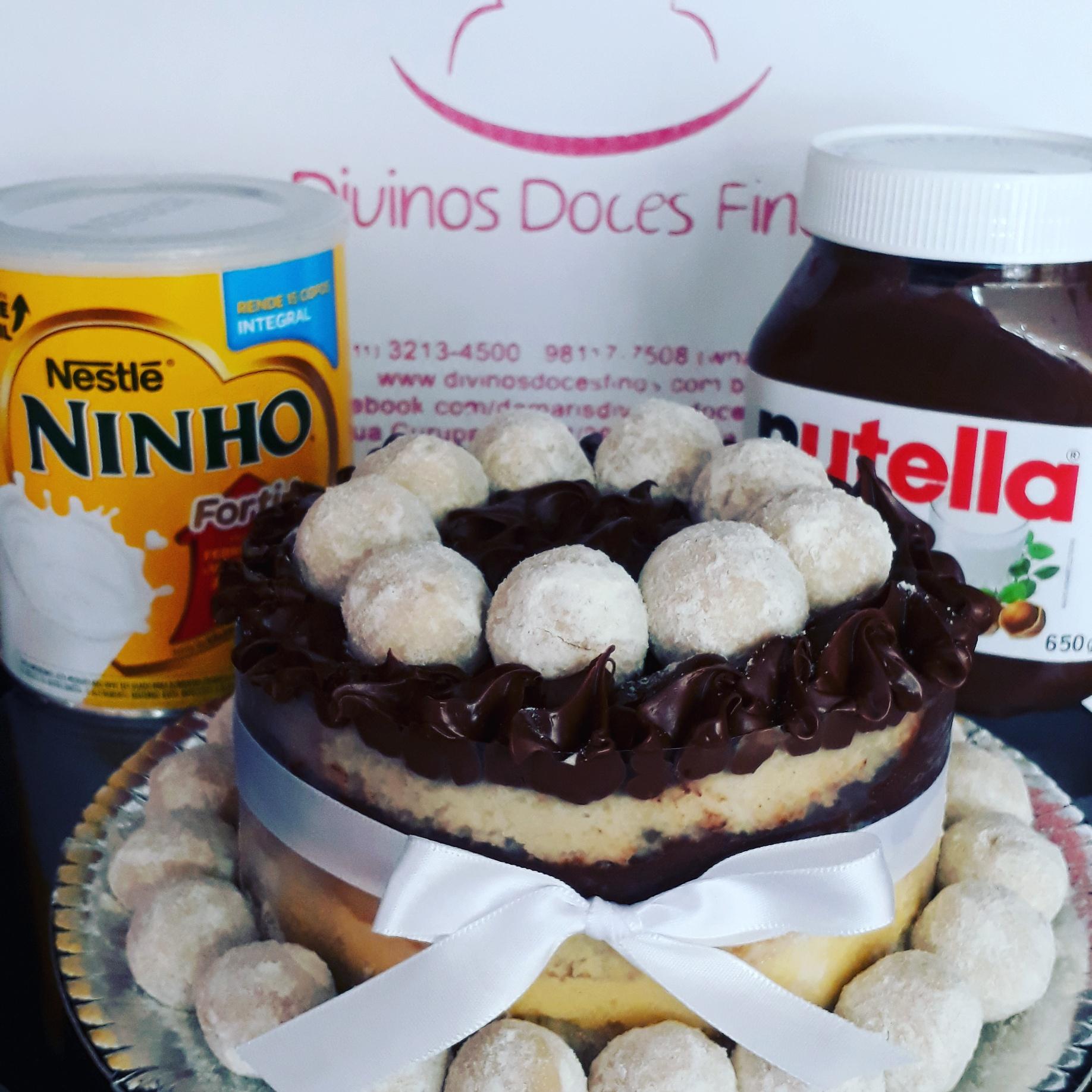 Naked Cake de Leite Ninho com Nutella – R$ 69,90kg