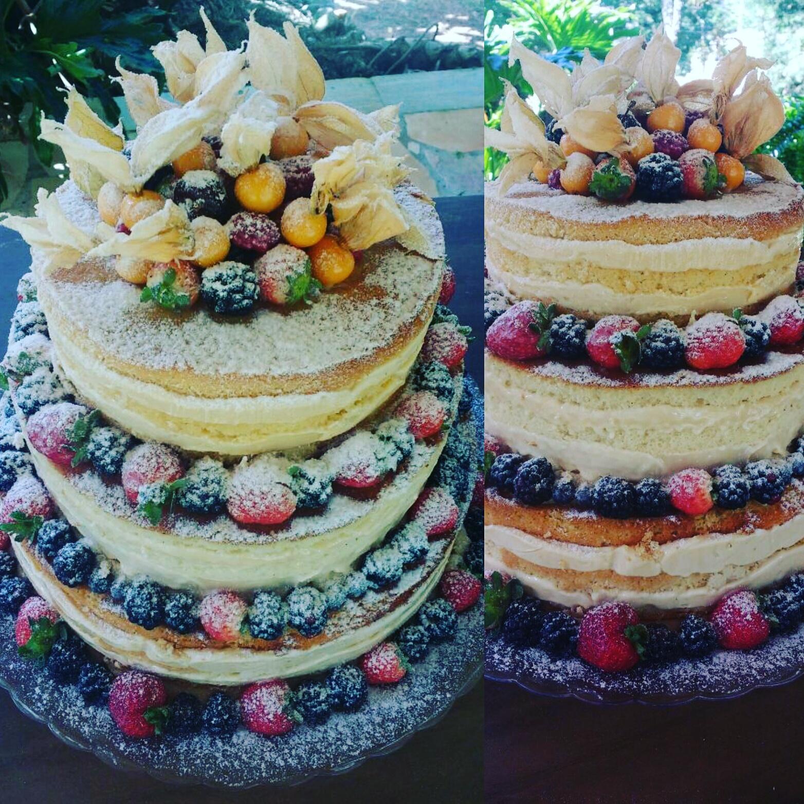 Naked Cake de Frutas Vermelhas R$ 69,90/kg